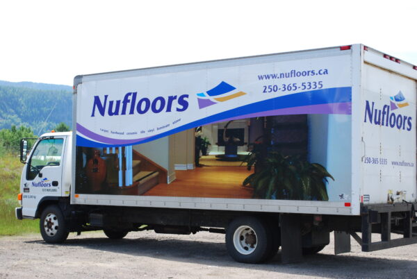 Nufloors Castlegar Delivery Truck