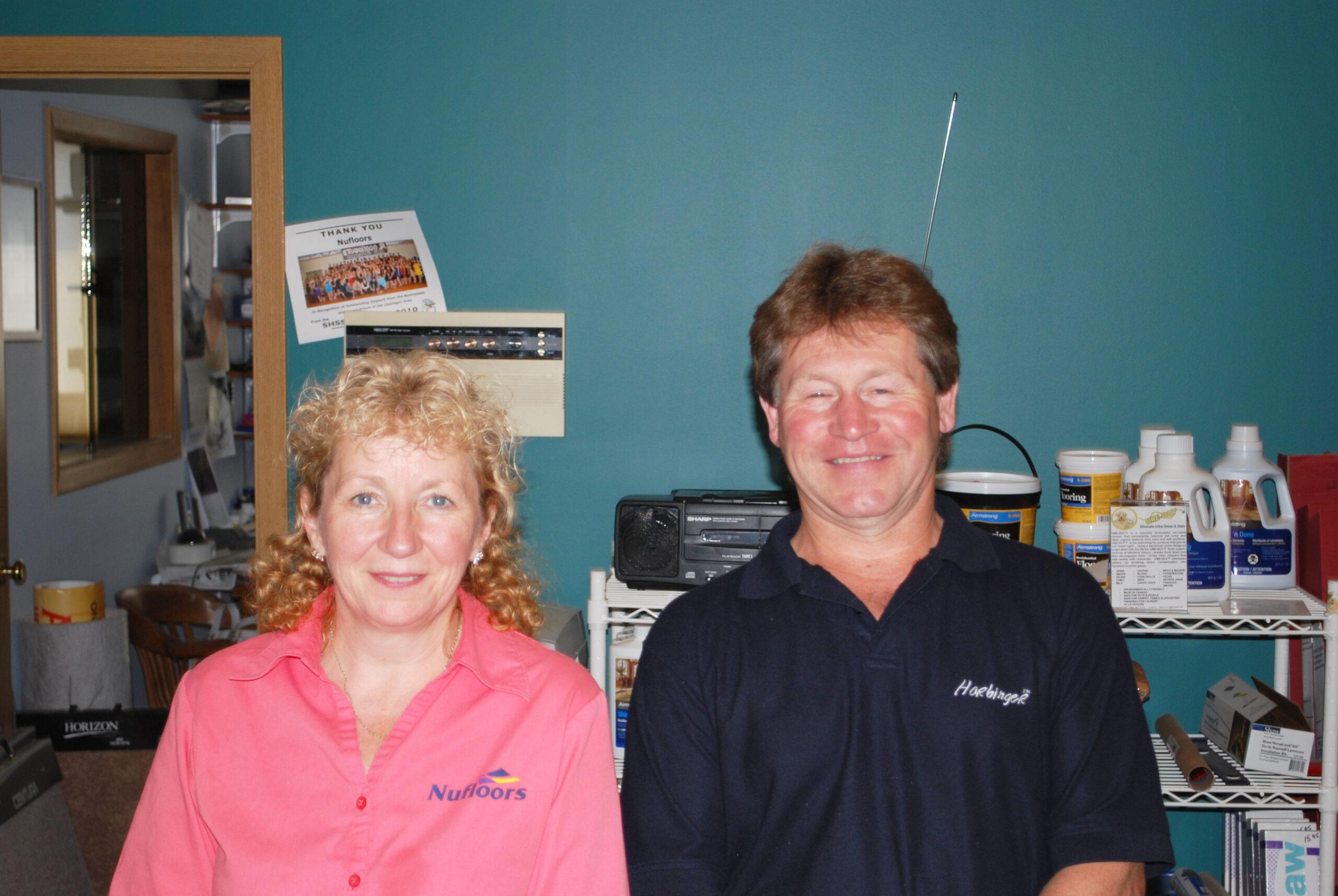 Carol and Brian Millar, Nufloors Castlegar
