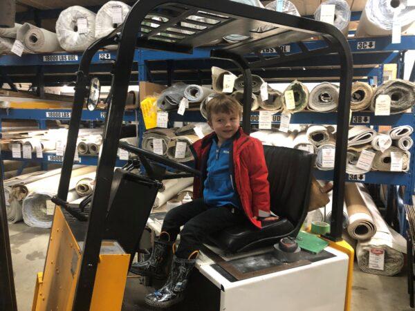 Future employee at Nufloors Nanaimo