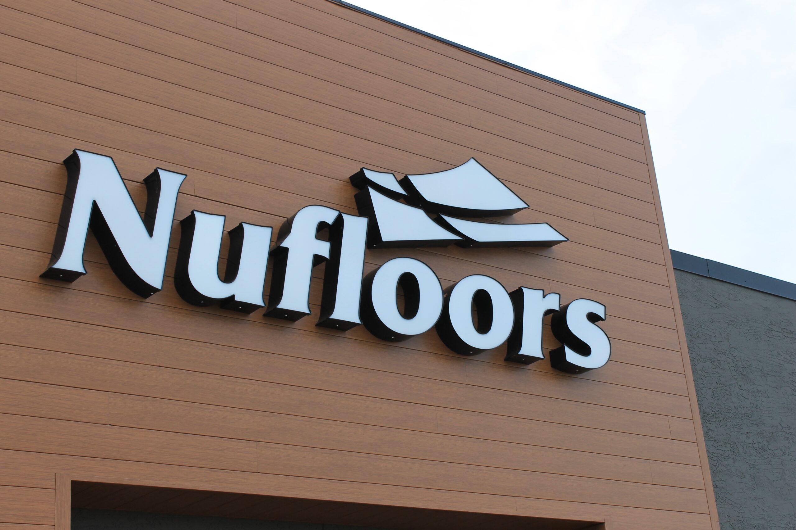 Nufloors Grand Prairie exterior signage