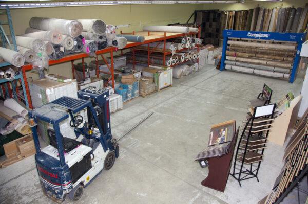 Nufloors Castlegar Warehouse Interior