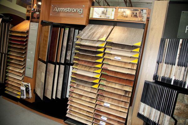 Nufloors Castlegar Store Interior and flooring sample