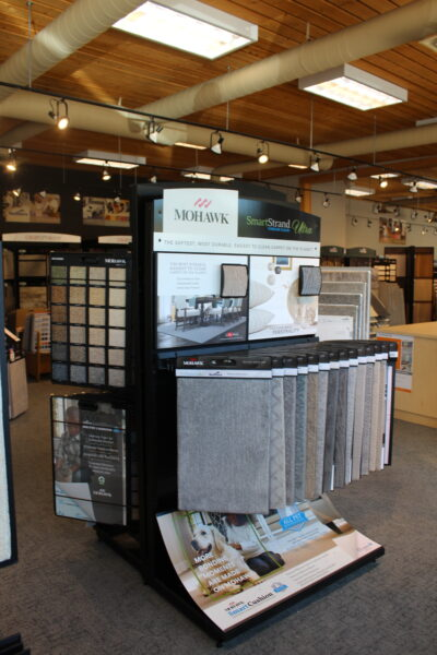 Carpet Samples at Nufloors Salmon Arm
