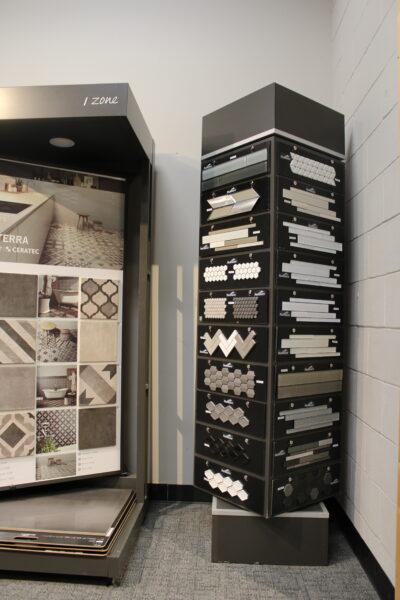 Tiles Samples in Nufloors Salmon Arm Store