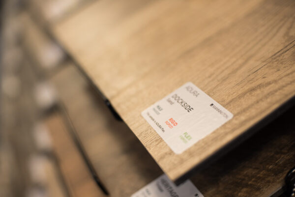 Nufloors Camrose Hardwood Flooring Samples - Closeup of Dockside by Mannington