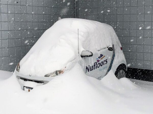 Nufloors Nanimo Snowed in Car