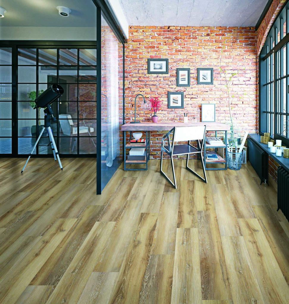 modern loft study interior.
